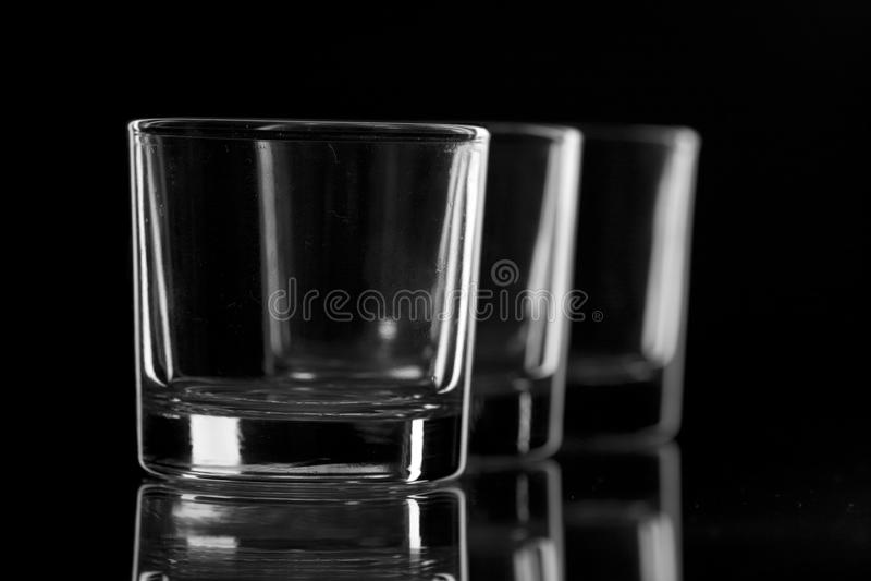 Três vidros do preto fotografia de stock royalty free