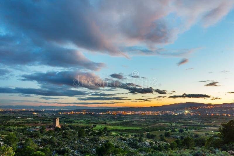 Três vilas espanholas fotografia de stock royalty free