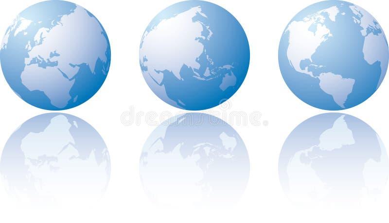 Três visões mundiais ilustração royalty free