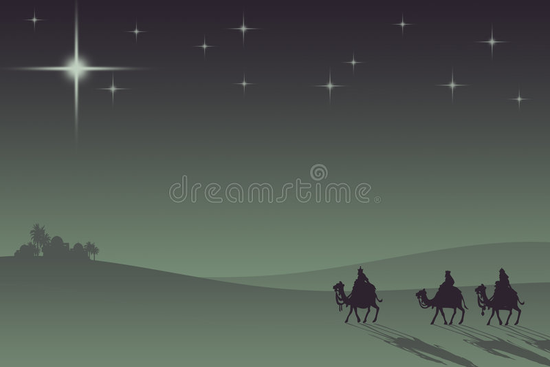Três wisemans ilustração royalty free