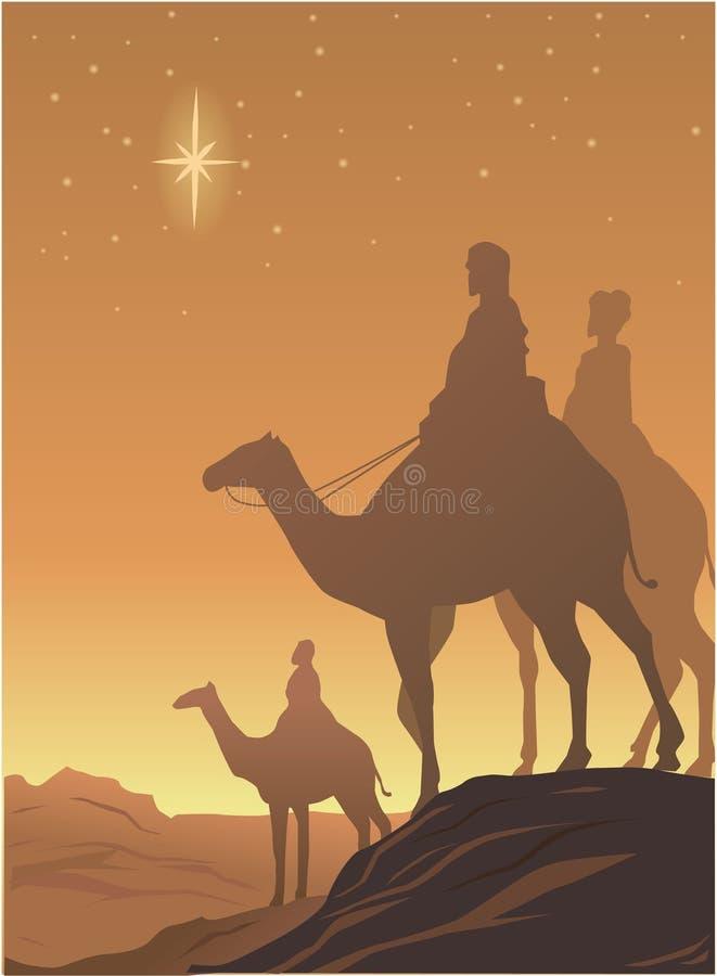 Três wisemen ilustração stock