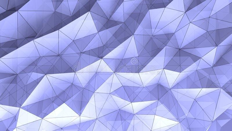 Trójboków graniastosłupów geometryczny tło ilustracja wektor