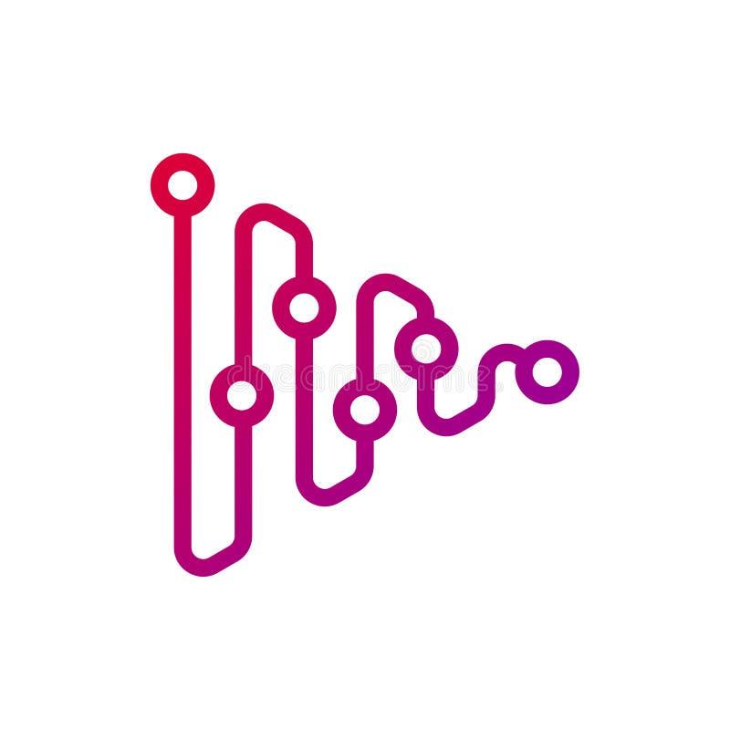 Trójboków związków logo projekt zdjęcia stock