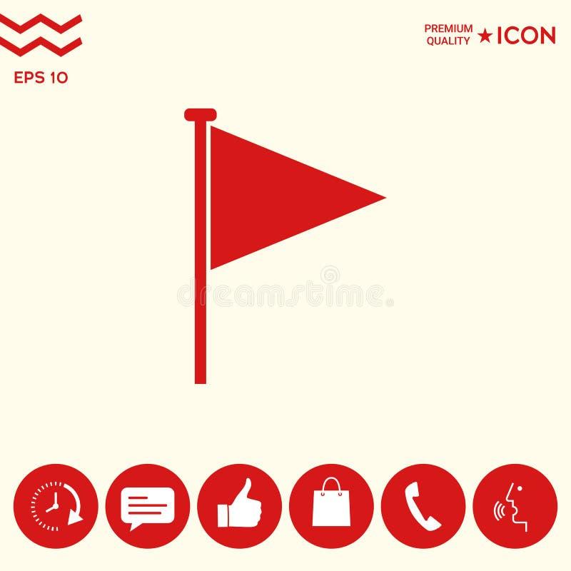 Trójbok chorągwiana ikona ilustracja wektor