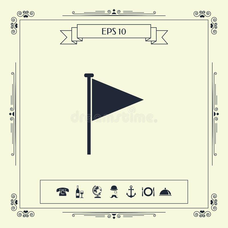 Trójbok chorągwiana ikona royalty ilustracja