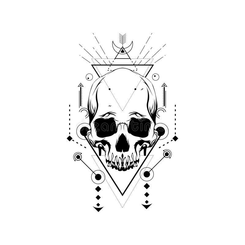 Trójbok czaszka ilustracji
