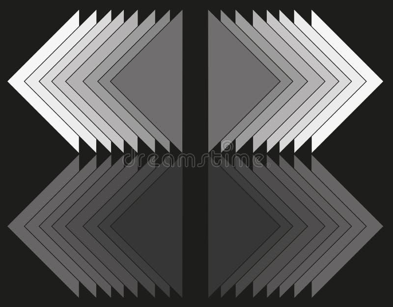 Trójbok geometryczna abstrakcja ilustracja wektor