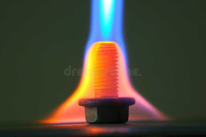 Trójbok ogień zdjęcie royalty free