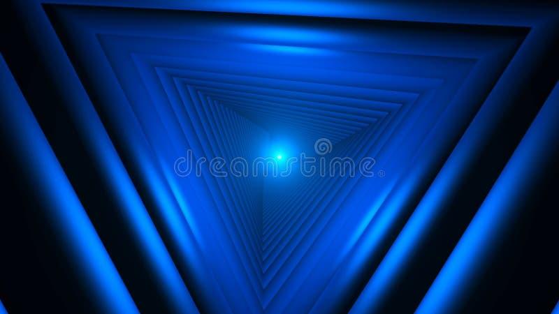 Trójbok przyszłości przestrzeni tunel Nauki fikci skład ilustracja wektor