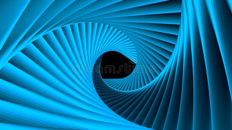 Trójbok przyszłości przestrzeni tunel Nauki fikci skład royalty ilustracja