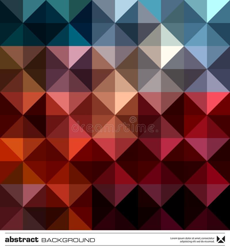 Trójboka abstrakcjonistyczny kolorowy tło. Wektor. ilustracji