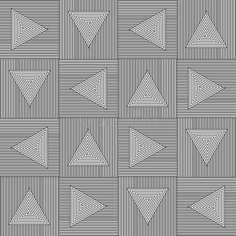 Trójboka Czarny & Biały wzór royalty ilustracja