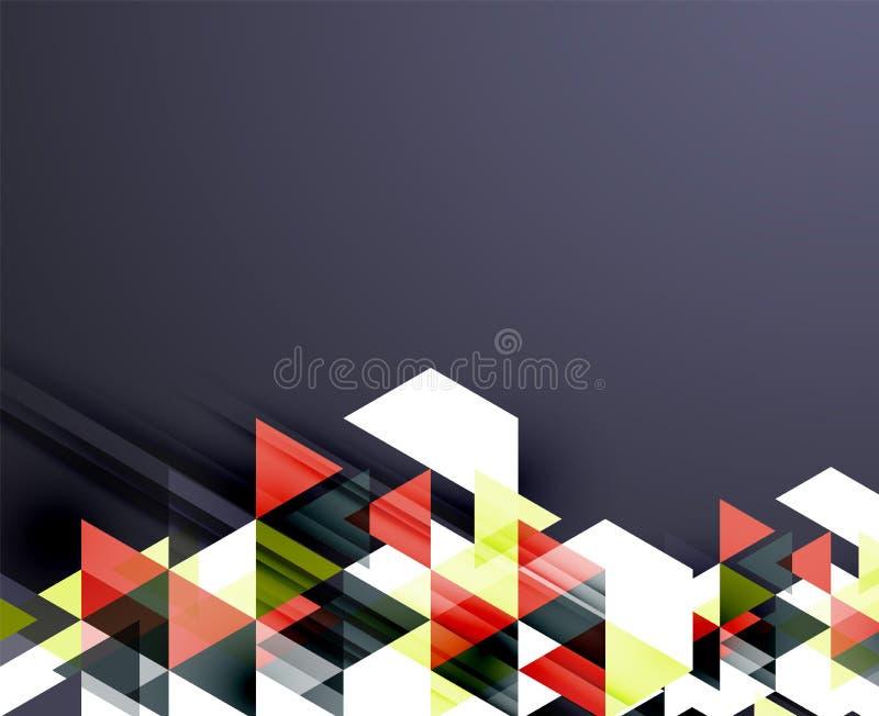 Download Trójboka Deseniowy Skład, Abstrakcjonistyczny Tło Ilustracja Wektor - Ilustracja złożonej z kolorowy, element: 57672379