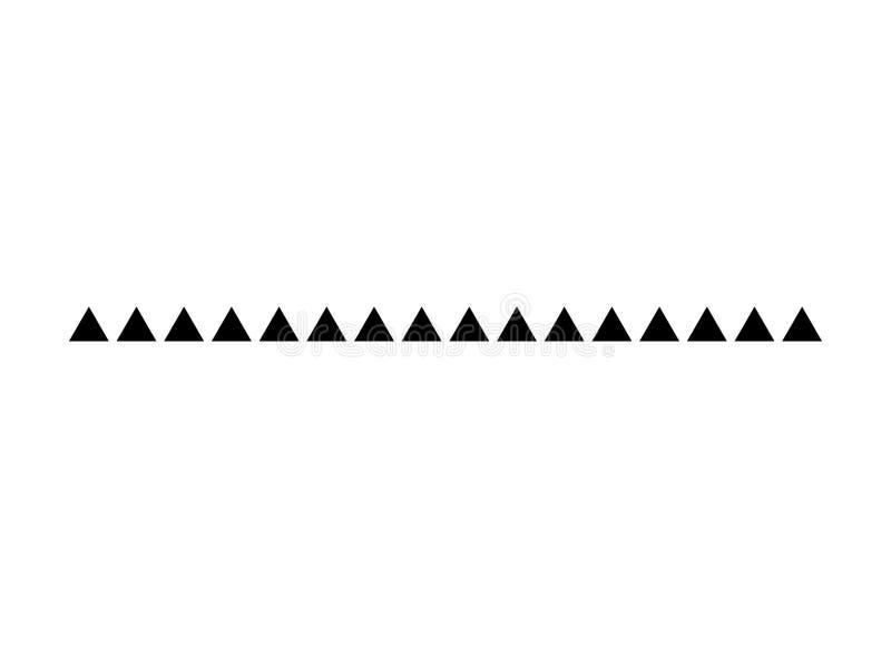 Trójboka divider projekta kreskowej wektorowej stopki nowożytna granica ilustracja wektor
