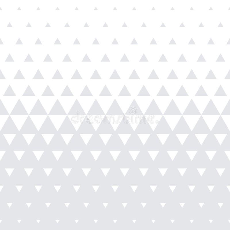 Trójboka geometrycznego deseniowego wektorowego bezszwowego abstrakcjonistycznego białego halftone tekstury minimalny gradientowy royalty ilustracja