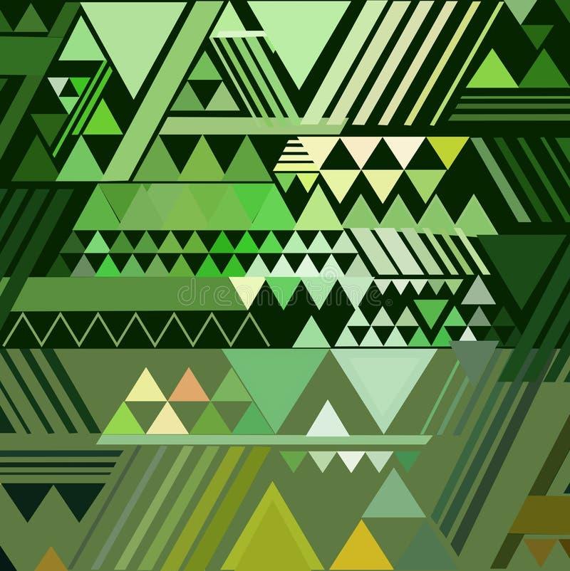 Trójboka geometryczny abstrakcjonistyczny tło ilustracja wektor