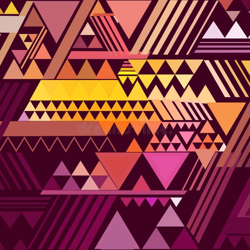 Trójboka geometryczny abstrakcjonistyczny tło ilustracji