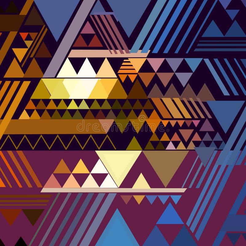 Trójboka geometryczny abstrakcjonistyczny tło royalty ilustracja
