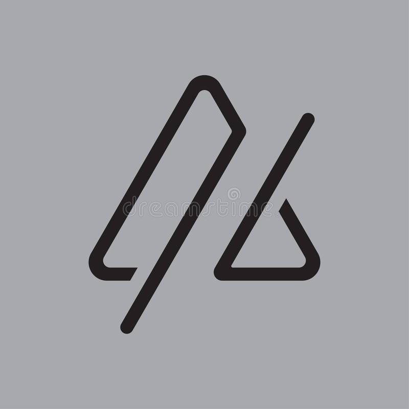 Trójboka logo prosty kreskowy projekt ilustracja wektor