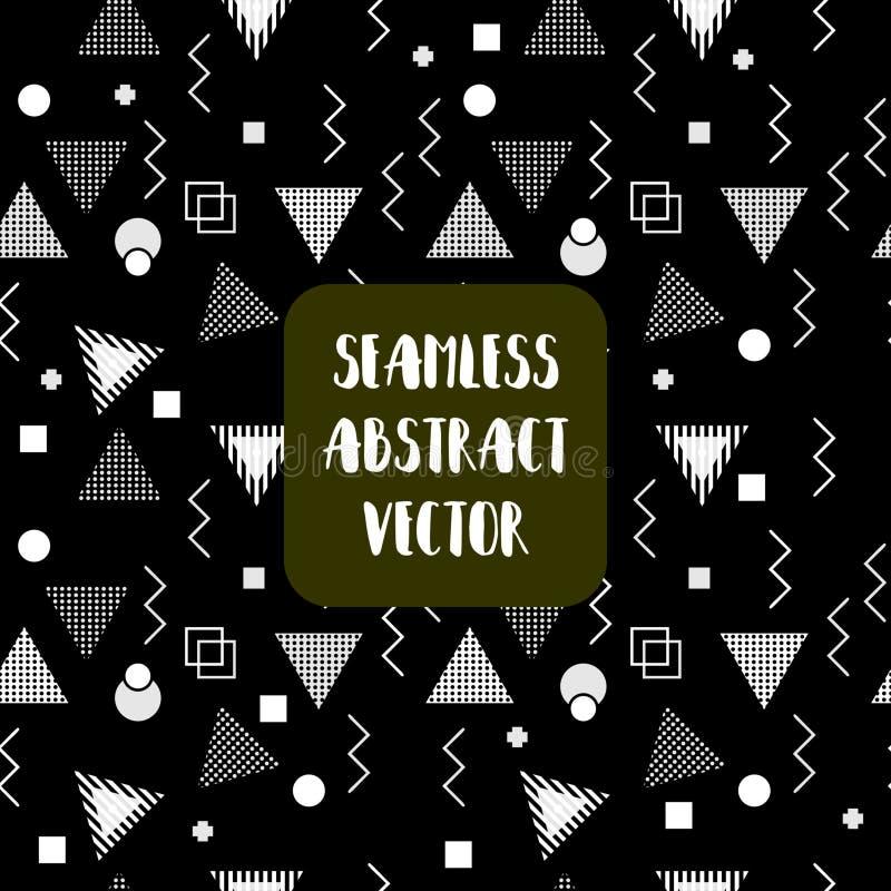 Trójboka Memphis geometryczny bezszwowy deseniowy wektorowy ilustracyjny abstrakt kształtuje ilustracji