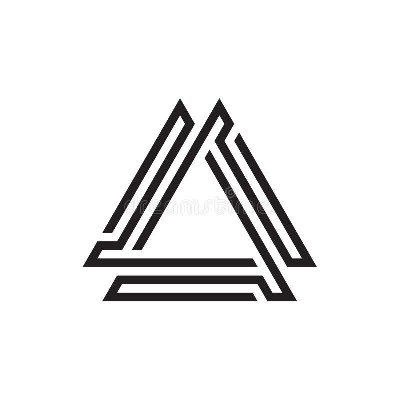 Trójboka Monoline logo projekt obrazy royalty free