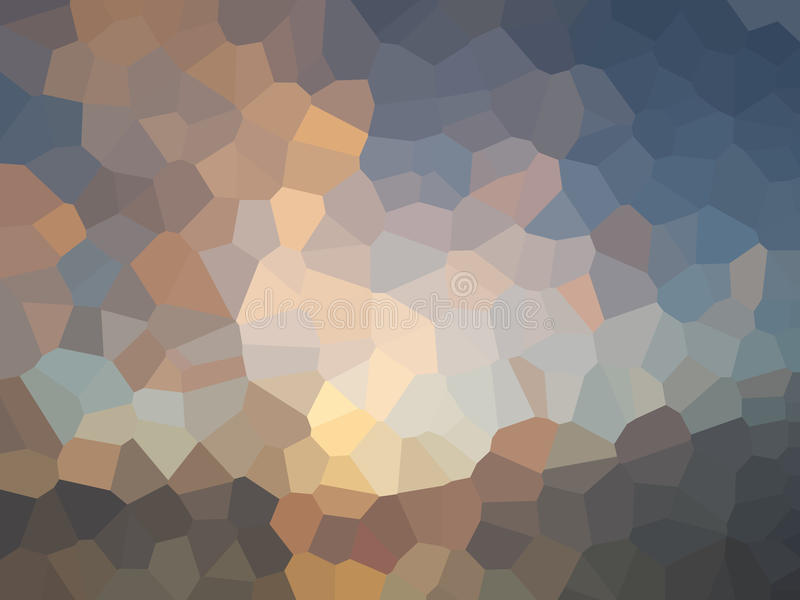 Trójboka pixelation skutka filtra abstrakta tło royalty ilustracja