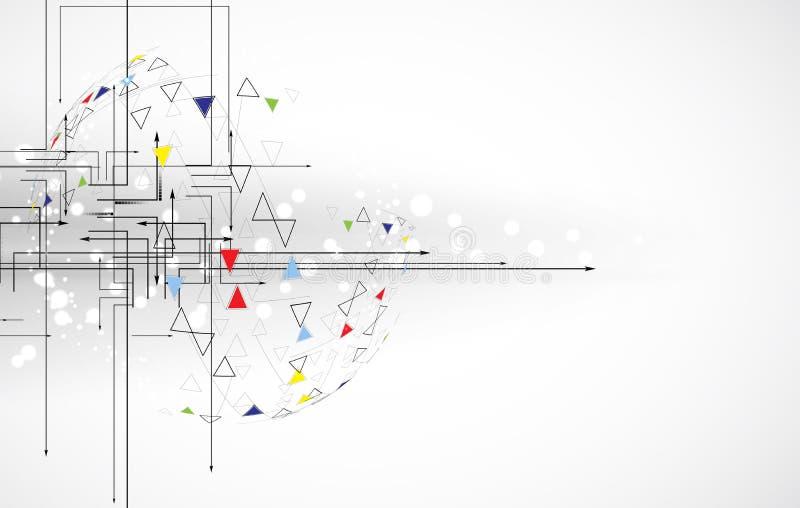 Trójboka składu interneta informatyki biznesu solut ilustracja wektor