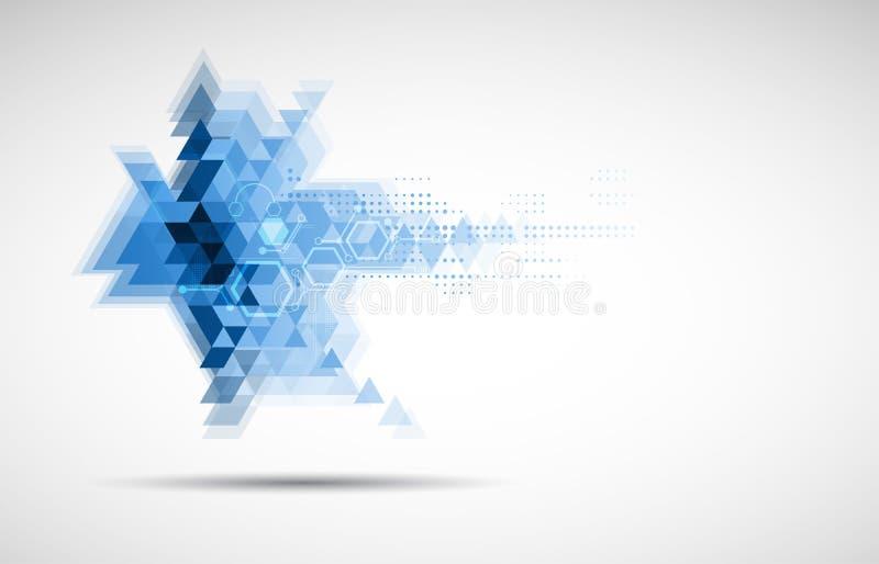 Trójboka składu interneta informatyki biznesu solut royalty ilustracja
