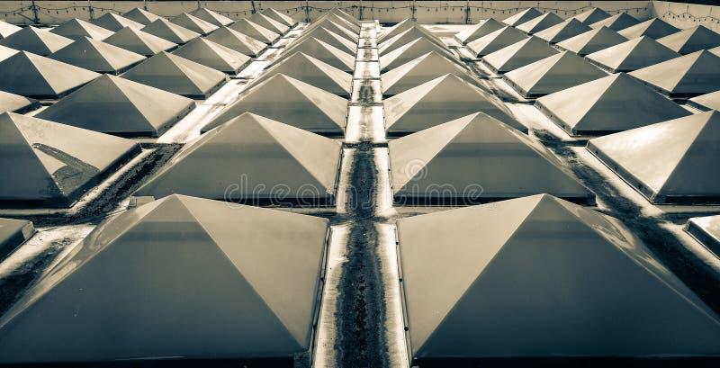 Trójboka skylight dach obraz royalty free