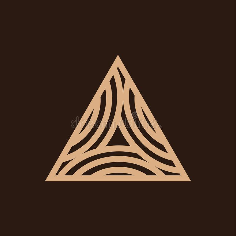 Trójboka szalunku logo projekt zdjęcia royalty free