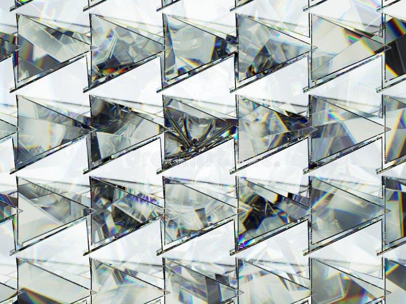 Trójboki z diamentowej struktury krańcowym zbliżeniem i kaleidoscop obrazy stock