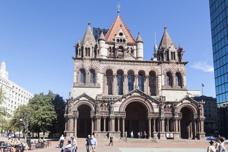 Trójca kościół Boston Massachusetts obrazy royalty free
