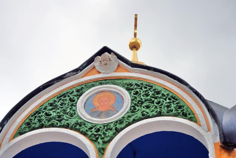 Trójca Sergius Lavra w Rosja Święty wiosny źródło fotografia stock