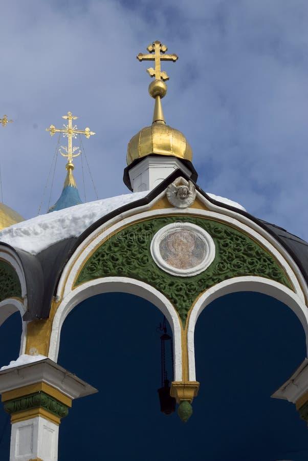 Trójca Sergius Lavra w Rosja Kolor zimy fotografia Święty wiosny źródło fotografia royalty free