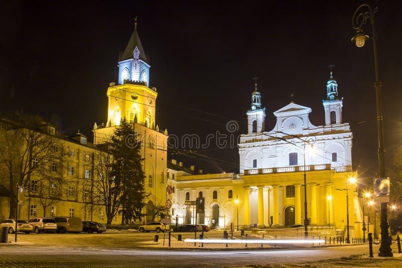 Trójcy Lublin i wierza katedra, Polska fotografia royalty free