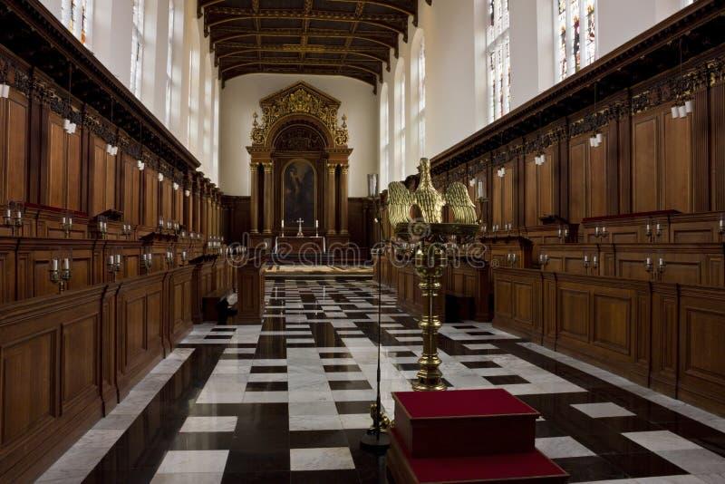 Trójcy szkoły wyższa kaplica w Cambridge fotografia stock
