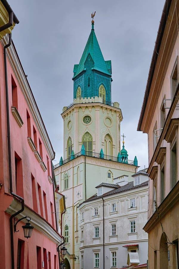 Trójcy wierza w Lublin fotografia royalty free