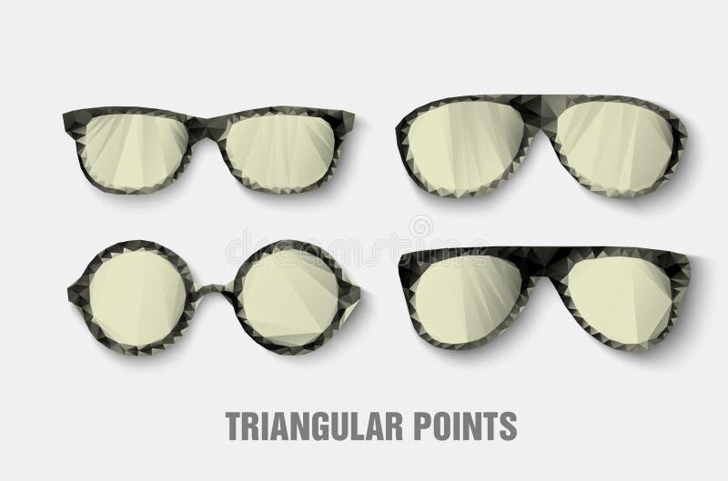 Trójgraniaści okulary przeciwsłoneczni royalty ilustracja