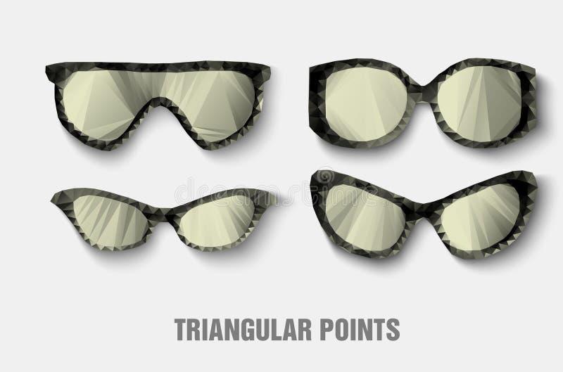 Trójgraniaści okulary przeciwsłoneczni ilustracji