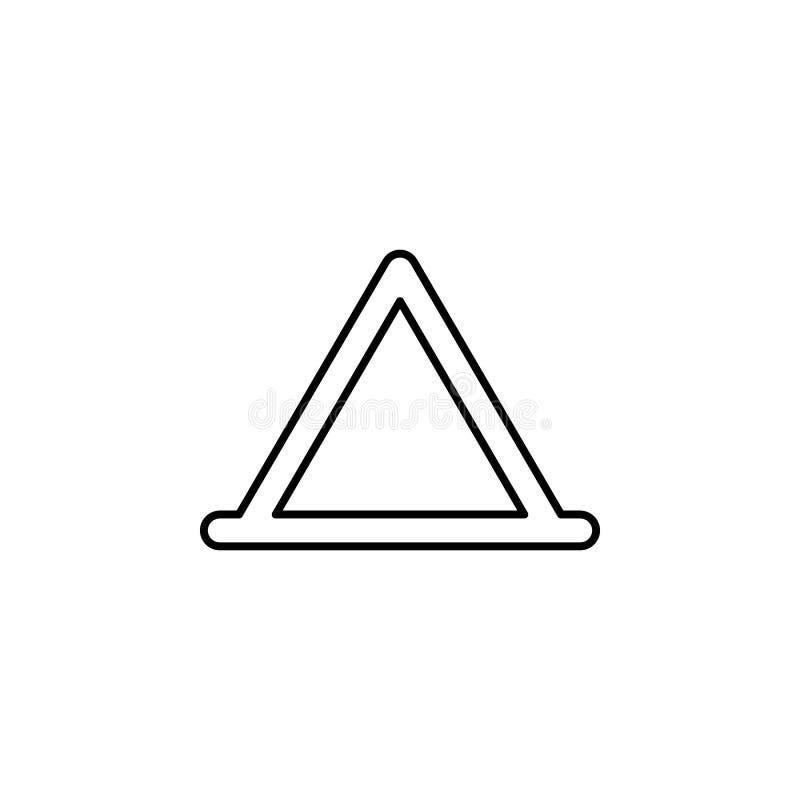 Trójgraniasta, namiotowa kontur ikona, Może używać dla sieci, logo, mobilny app, UI, UX ilustracja wektor