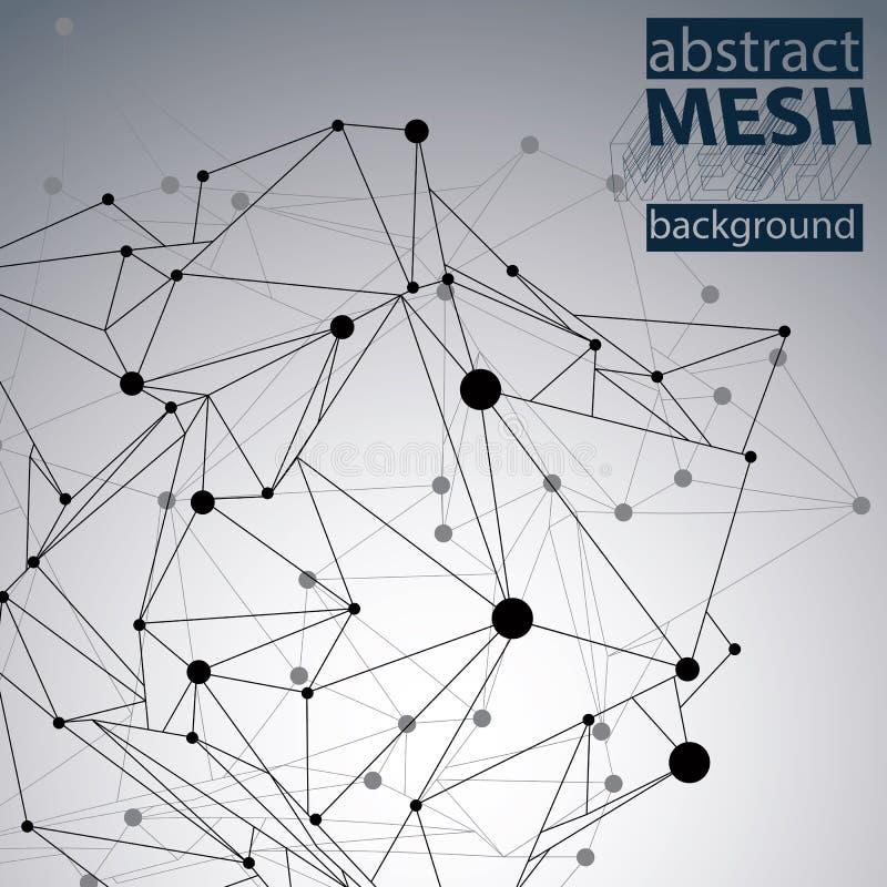 Trójgraniasty abstrakcjonistyczny czarny i biały prążkowany 3D royalty ilustracja