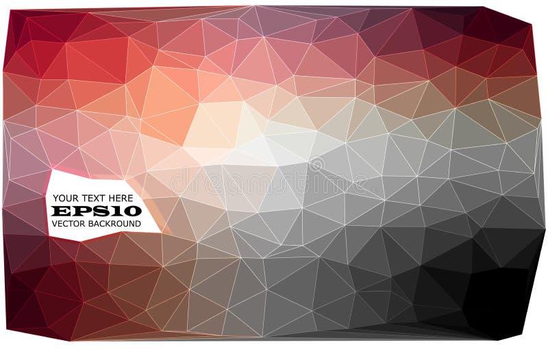 Trójgraniasty abstrakcjonistyczny tło zdjęcie stock