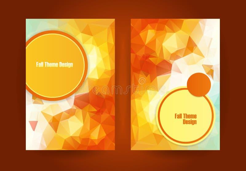 Trójgraniasty pomarańczowy sezonu jesiennego temat ilustracji