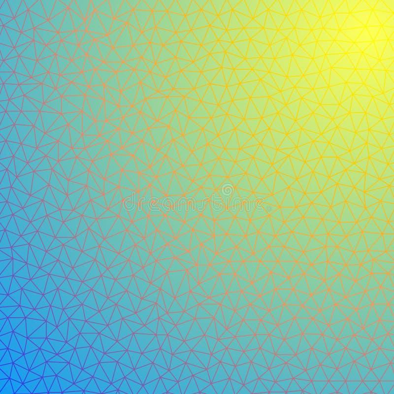 Trójgraniasty szablon dla twój biznesowego projekta w błękita lub namułu col royalty ilustracja