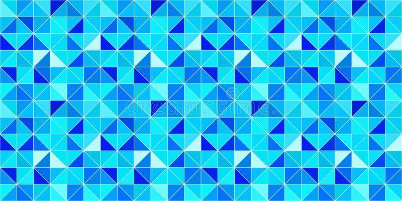 Trójgraniasty wektorowy tło nowożytny geometrical tło z trójbokami Błękitni jaskrawi kolory struktura abstrakcyjna Zima ilustracja wektor