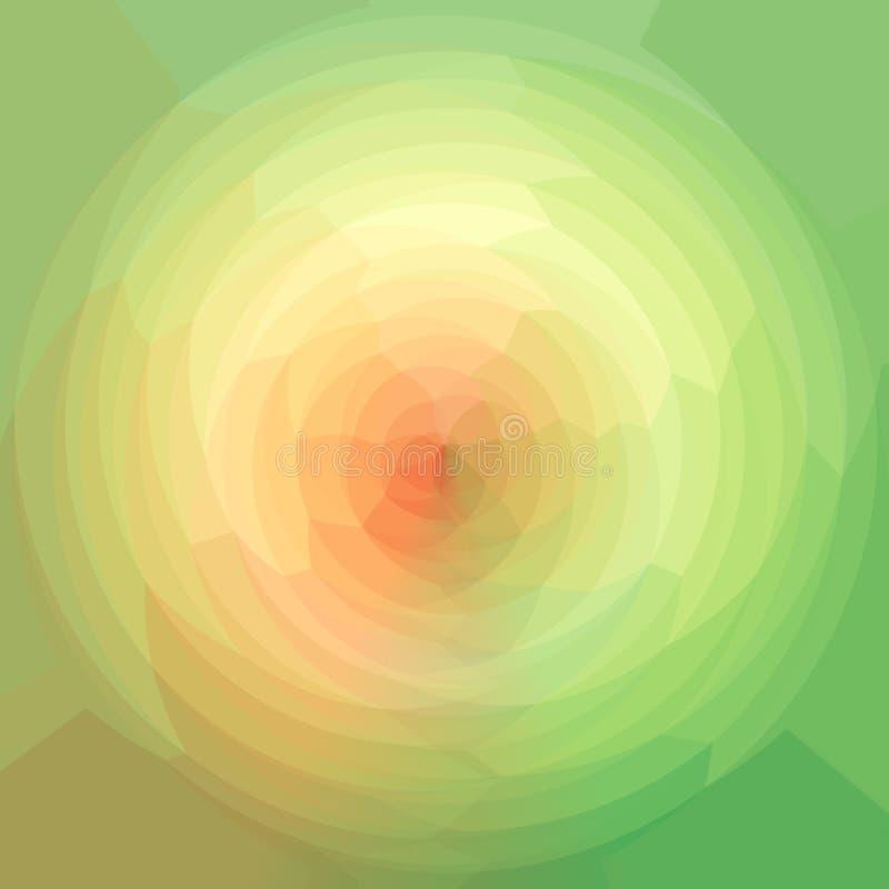 Trójgraniasty wzór w sferze Koloru widma Geometryczny wzór ilustracja wektor