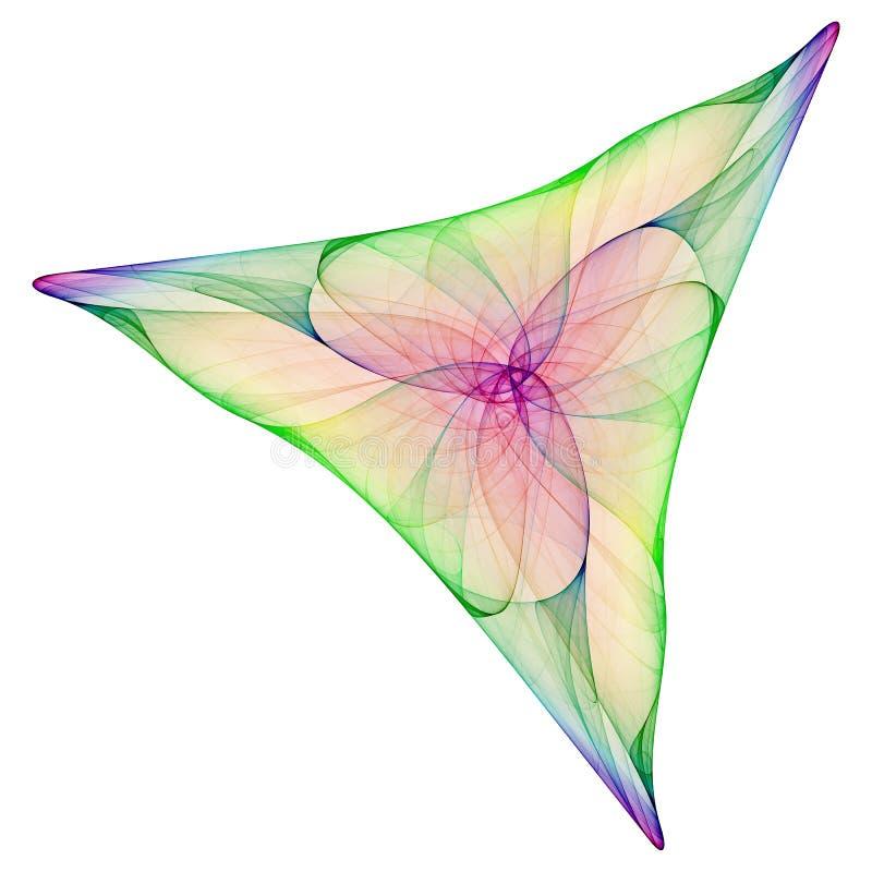 trójkąt abstrakcyjne royalty ilustracja