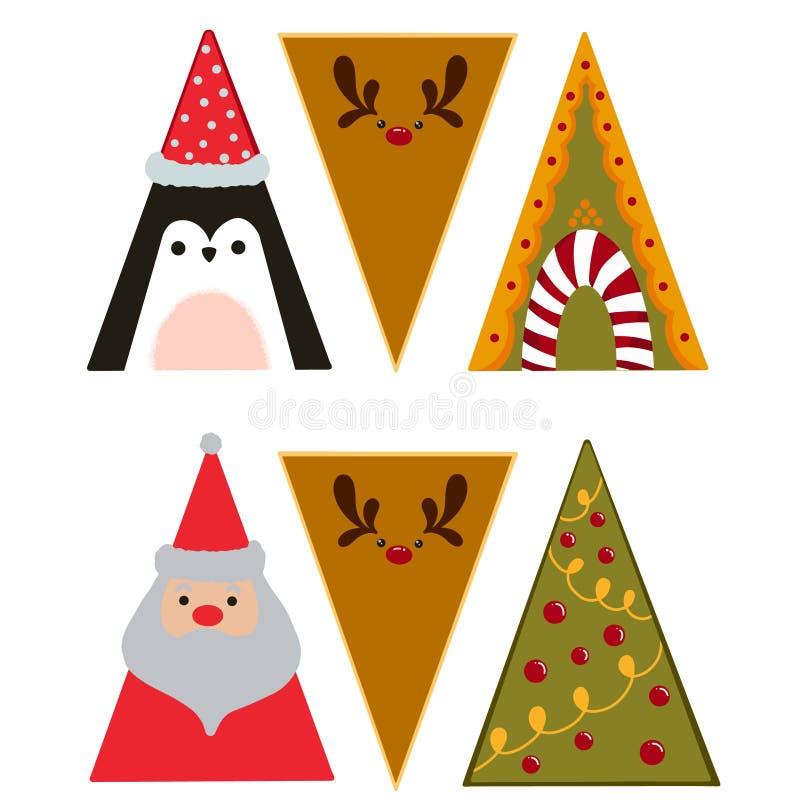 Trójkąty świąteczne obraz stock