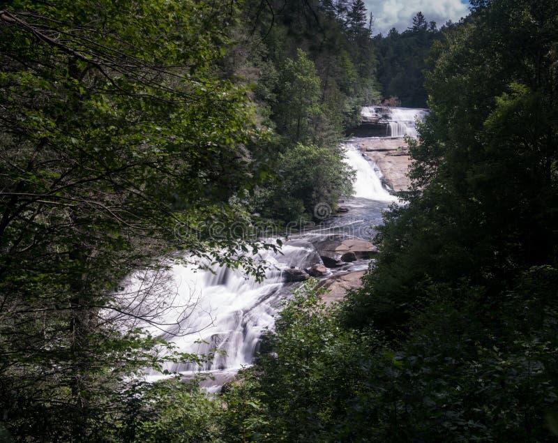 Trójka Spada w Dupont stanu lesie Pólnocna Karolina obrazy stock