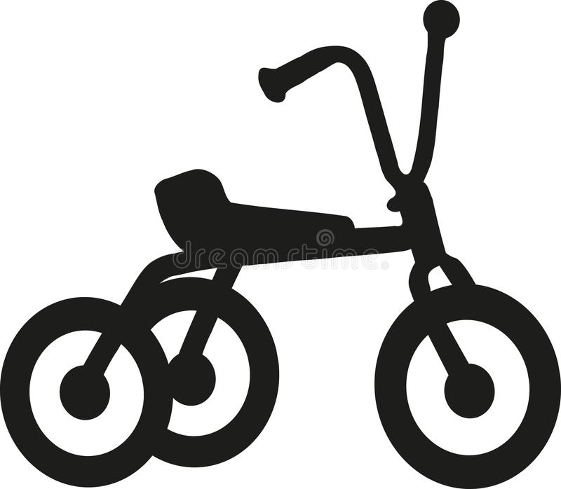Trójkołowiec ikony wektor ilustracja wektor